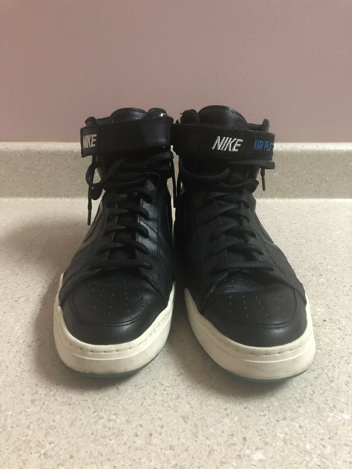 Nike Air Flytop Black Leather (385225-090) SIZE 13