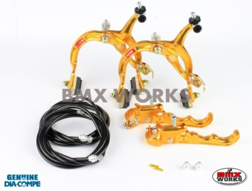 Dia-Compe MX1000 MX120 Gold /& Black Brake Set Old Vintage School BMX