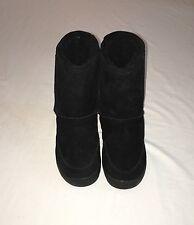 Polar Bear Unisex Kids Winter Snow Boots Size 5/6 Suede Black ~Comfy~