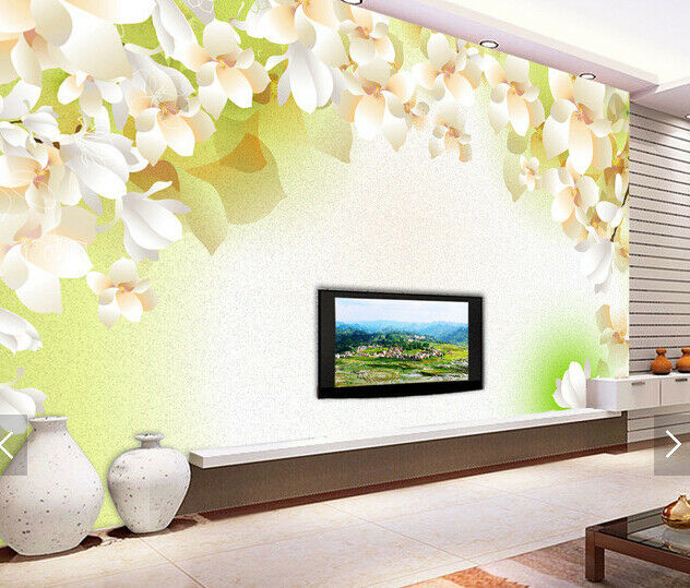3D Petals Weiß 559 Wallpaper Murals Wall Print Wallpaper Mural AJ WALL AU Kyra