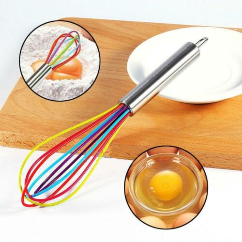 Baking Cook Blender Silicone Egg Beaters 9 Inches Home New Tools Foamer Whisk BB