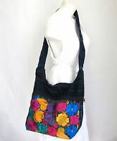 Mexican Embroidered Handbag Large Handmade Crossbody Bag Shoulder Purse