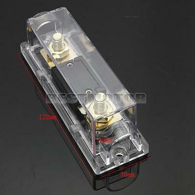 Car Gold plated Fuse Holder & Free ANL Fuse 80A / 80 Amp 0 Gauge Cable Inline