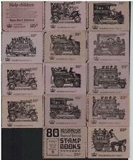 complete serie 25p STITCHED BOOKLET DH39 - DH52 =14 BOOKLETS INCLUDING TRANSPORT