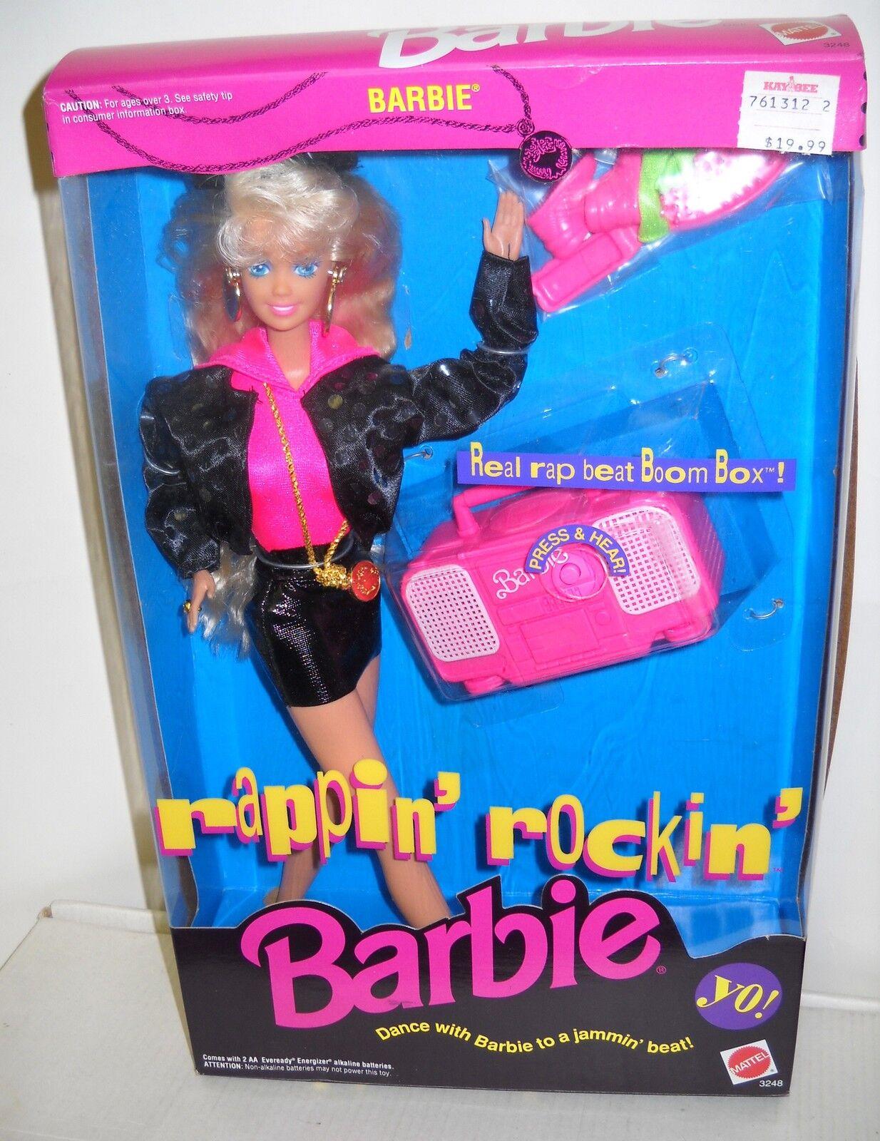 Nunca quitado de la Caja Vintage Mattel Muñeca Barbie rapero  Rockin'