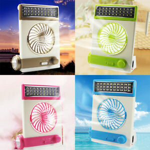 Solar Power USB Rechargeable 2in1 Camping Cool Fan Light Tent LED Lantern Cooler