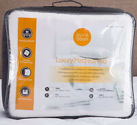Luxury Mattress Pad Deep Pocket Topper Bedding Protector Cotton Quilted Cover