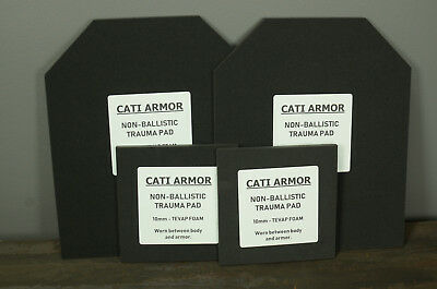 10mm Trauma Pads Backers 10x12 and 6x6 Pads For AR500 Steel Body Armor Plates