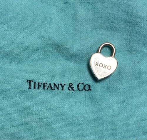 Tiffany & Co Silver Heart XOXO Padlock Heart Charm