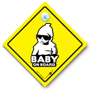 Baby On Board Sign Cool Baby Suction Cup Sign Hoodie Baby On Board Car Sign