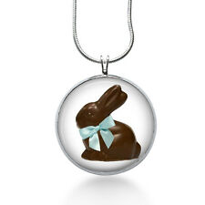 Chocolate Easter Bunny Pendant Necklace, Food,Pendant, fashion jewelry, gifts