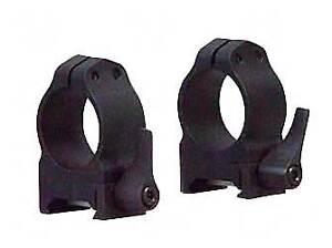 Warne Quick Detach 1 Inch Scope Rings Medium Matte 201LM