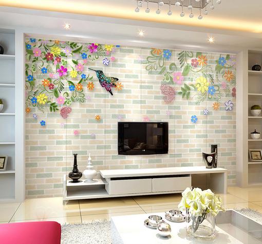 3D Farbe Flower Bird 7 Wall Paper Murals Wall Print Wall Wallpaper Mural AU Kyra