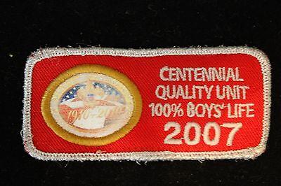 NEW Boy Scouts BSA 2007 Centennial Quality Unit patch NEW