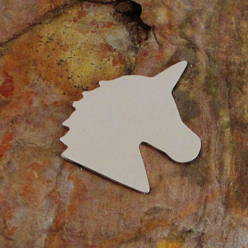 5 UNICORN Stamping Enameling Blanks Aluminum Brass Bronze Copper Nickel Silver