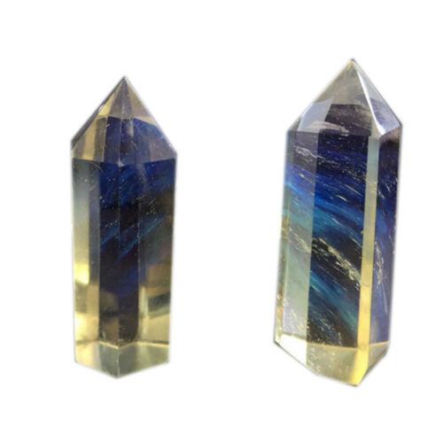 Fusão De Cristal De Quartzo Natural Varinha Ponto Prisma Hexagonal Presente Pedra de cura