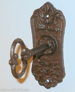Image is loading NEW-Oval-Cast-Iron-Victorian-Skeleton-Key-Keyhole- : antique key plate - pezcame.com