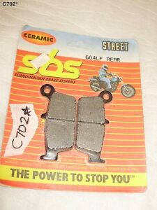 SCANDINAVIAN-BRAKE-SYSTEM-SBS-REAR-PADS-FOR-MOST-MODEL-604LH-REAR-NEW-OS-C702