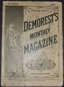Demorest-039-s-Monthly-Magazine-for-October-1887-with-a-beautiful-color-lithograph