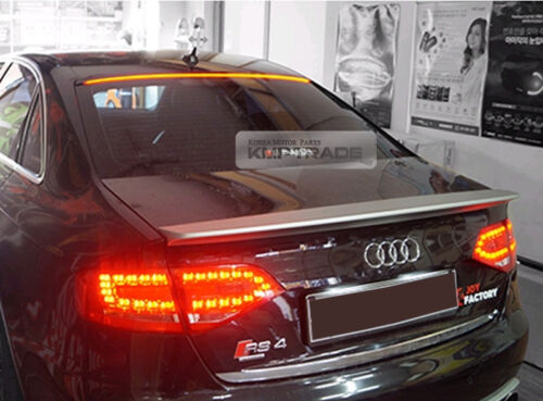LED Rear Roof Brake Light Lamp Glass Wing Lip Spoiler for AUDI 2006-2008 A4 B7