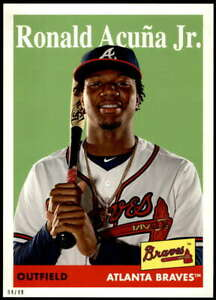 Ronald Acuna Jr. 2019 Topps Archives 5x7 #100 /49 Braves