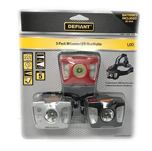 Defiant 3 Pack 80 LM DEL projecteurs 1 m Réflexion distance réglable