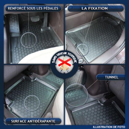 3D EXCLUSIVE TAPIS DE SOL EN CAOUTCHOUC pour PEUGEOT 307  2004-2010   4pcs