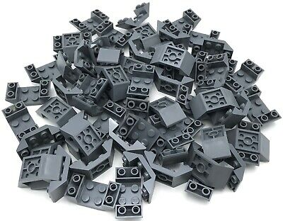 LEGO LOT OF 100 LIGHT BLUISH 2 X 2 SLOPED 45 PIECES SLOPE INVERTED PIECES