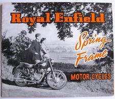 ROYAL ENFIELD SPRING FRAME RANGE Motorcycle Sales Brochure NOV 1953 325/75M/1153
