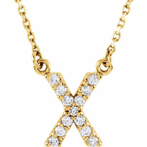 14k-Yellow-White-or-Rose-Gold-Diamond-Initial-Letter-X-Pendant-Necklace-18-034