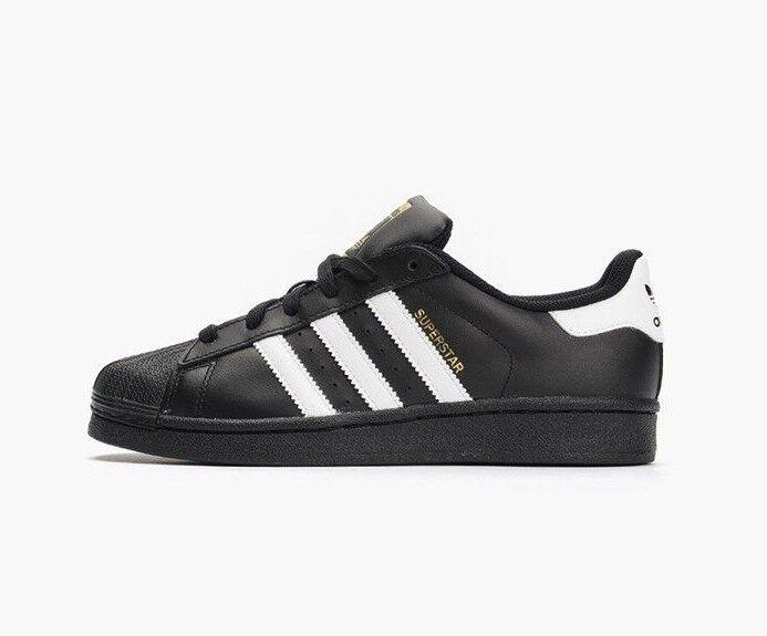 Adidas Superstar B23642 Noir / Blanc Chaussures Junior 4Y-7Y