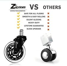 Zitriom Office Chair Caster Wheels For All Floors Set Of 5 Silicone Replacements For Sale Online Ebay