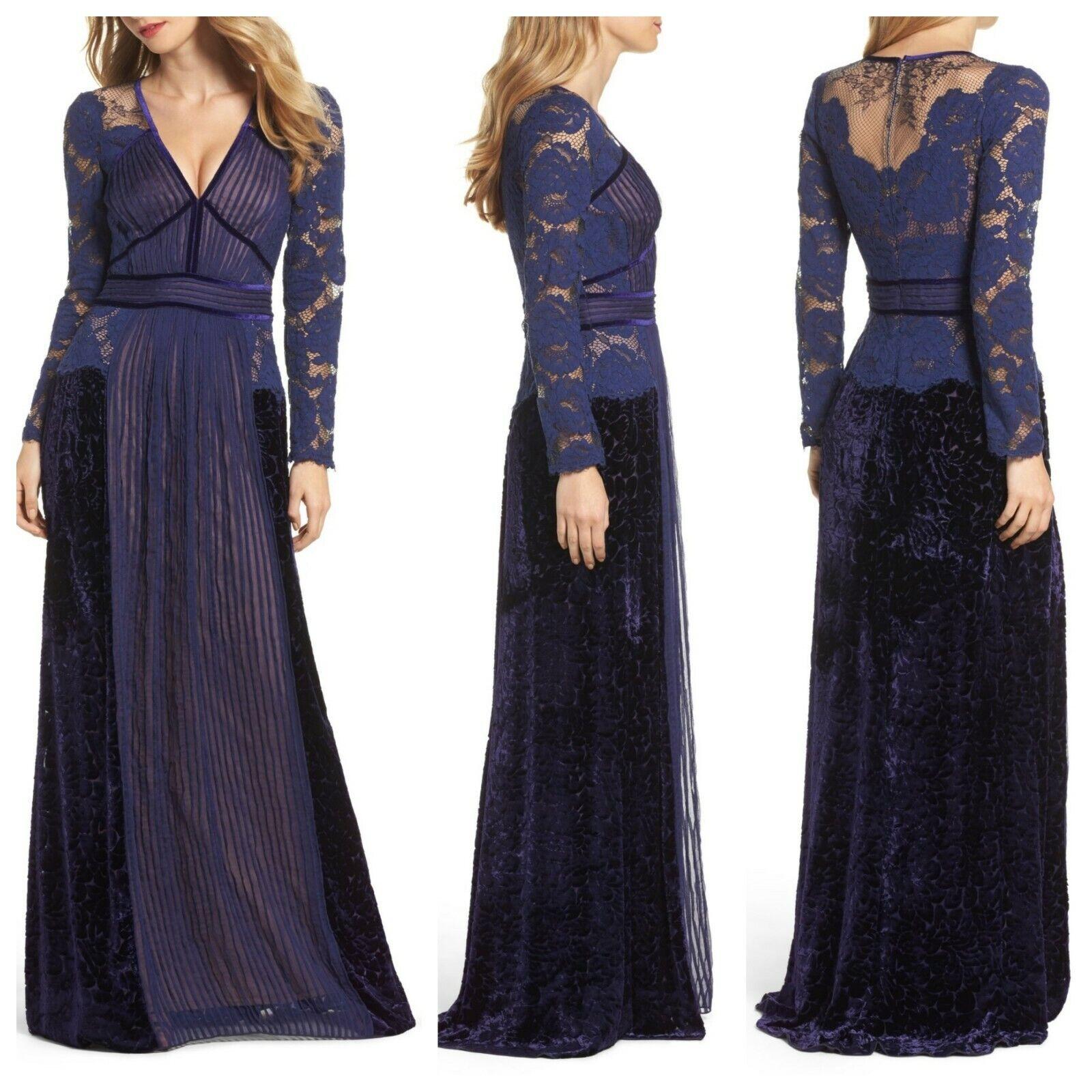 a84fffa0003 Tadashi Shoji Mixed Media A-Line Gown Notte   16   E387 SZ NWT oodkjt3780- Dresses