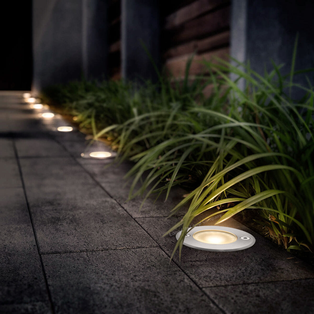 LED Stainless Steel Round 1W Walkover Decking Lights Outdoor IP65 Ground Light