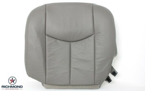Driver Side Bottom LEATHER Seat Cover Gray 2004 Silverado 1500HD LT LS 4x4 2WD