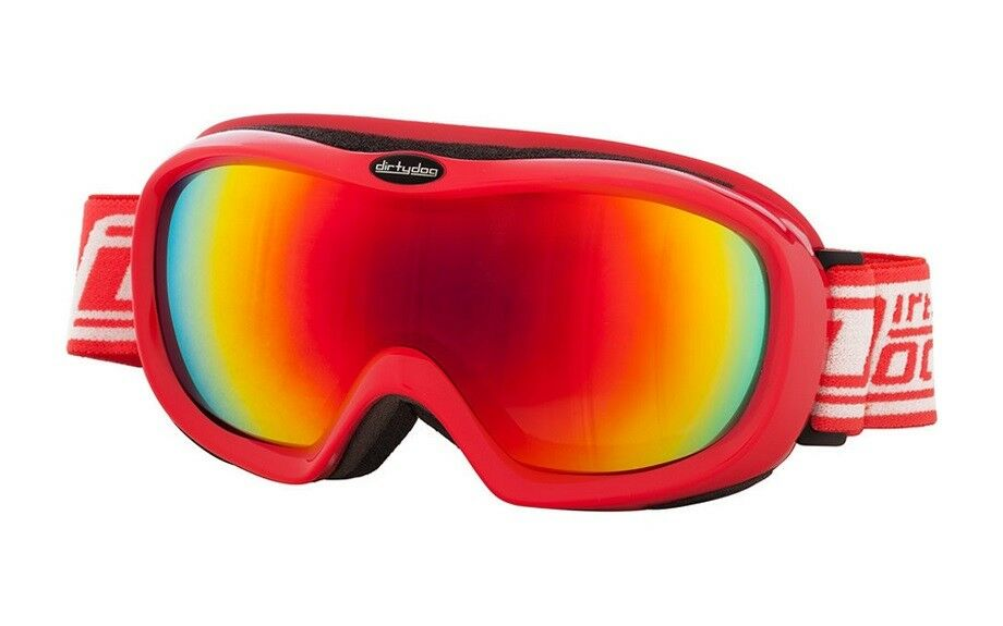 DIRTY DOG SCOPE SKI GOGGLES SNOWBOARDING CAT 3 FIRE FUSION MIRROR LENS RED