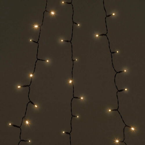 Lunartec Weihnachtsbaum-Überwurf-Lichterkette mit 6 Girlanden /& 240 LEDs IP44