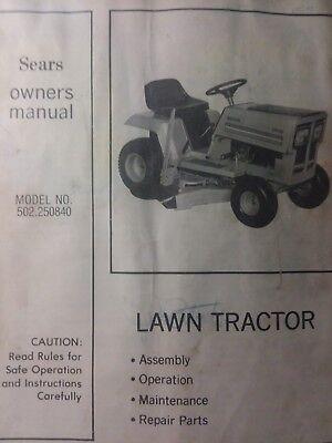 Sears LT 10 Lawn Tractor Owner Parts Manual Murray Suburban Farm Hp EBay