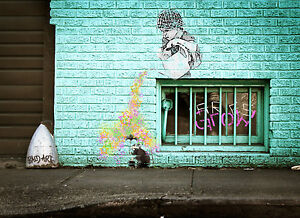 art painting  poster street graffiti  alley wall canvas by Andy Baker A0