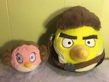 Angry Birds Star Wars HANS Han SOLO Princess Leia Plush Yellow Pink