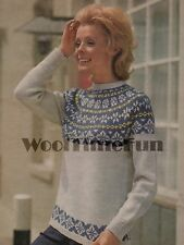 Knitting Pattern Lady/'s 12 Ply Cable /& Fair Isle Eagle Sweater 76-102 cm 71