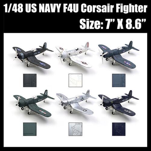 1PCS Plastic Aircraft Airplane Model Airplane 1//48 US NAVY F4U Corsair Fighter