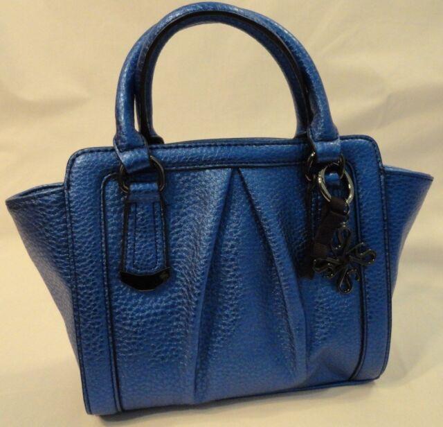 Metallic Blue Simply Vera Wang Purse wear as Shoulder Crossbody or Satchel New