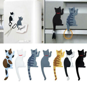 Cute-Multifunction-Cat-Magnetic-Refrigerator-Sticker-Fridge-Magnet-Hanging-Hook