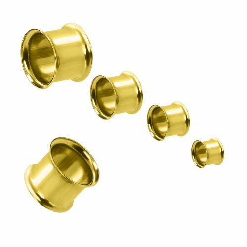 Túnel bollos Plug oreja piercing Double flared acero inoxidable anodizado