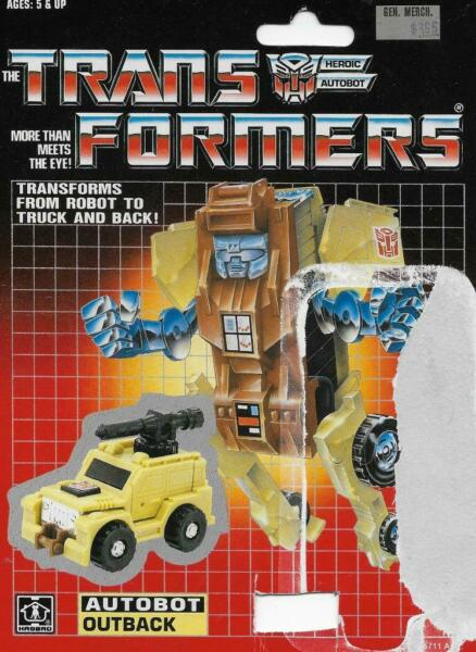 100% De Qualité Transformers G1 Original 1986 Mini-bot Outback Carte De Retour Avec Tech Spec