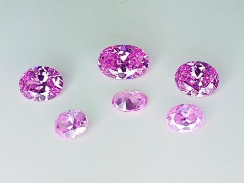 CZ Oval Pink 6x8mm 7x9mm 8x10mm 12x8mm Loose AAA Cubic Zirconia Gemstone