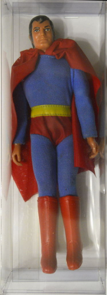 Mego 1974 SUPERMAN 8  ACTION FIGURE Type 2 Loose & Clean WGSH