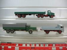 N278-0, 5# 3x Wiking h0 camiones: Büssing, Mercedes-Benz MB, Volvo