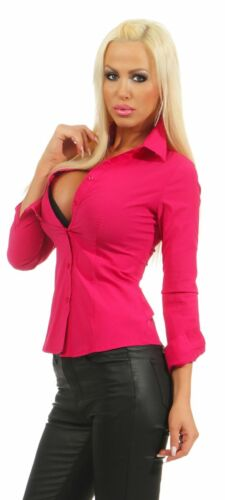 5983 Taillierte Damen Bluse Langarm Businessbluse Hemdbluse Business Citylook !